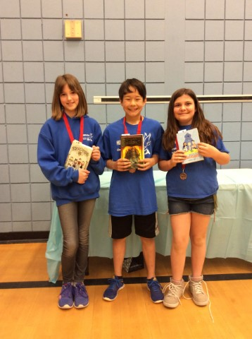 Grade 5 Battle of the Books 3rd Place Winners!